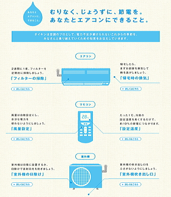 ダイキン工業のエアコンの節電対策