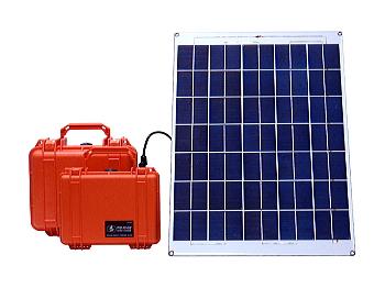 太陽光パネルと充電池を組み合わせた、携帯型の太陽光発電システム